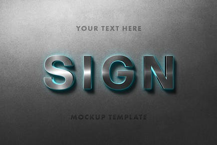 Neon Sign Mockup Template