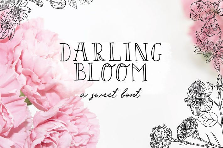 Thumbnail for Darling Bloom Font