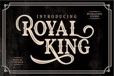 Royal King - Old Vintage Font d'affichage