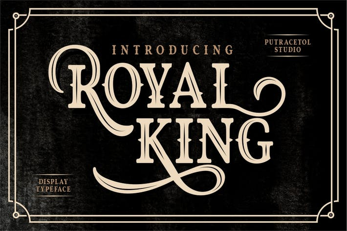 Royal King - Fuente de pantalla antigua vintage