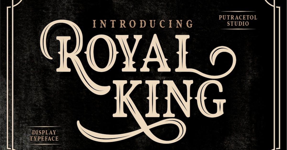 Download Royal King - Old Vintage Display Font by Ahnaf-Studio