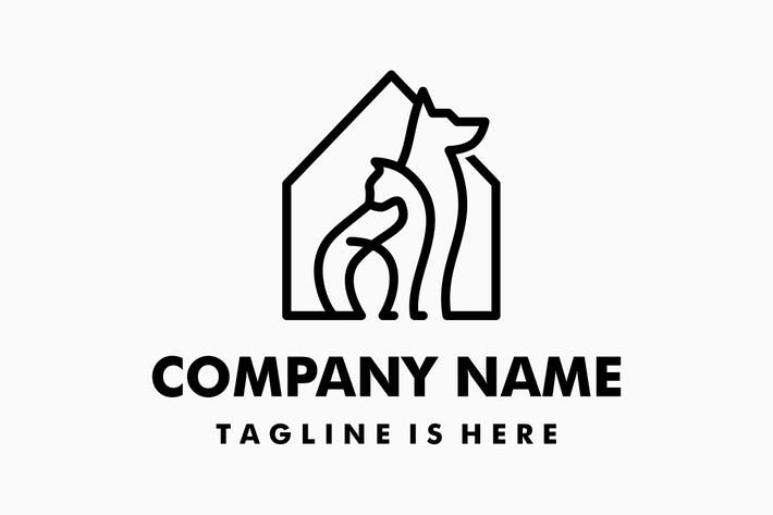 Thumbnail for Dog Cat Pet House Logo