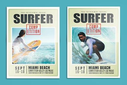 Surfen Flyer Wettbewerb