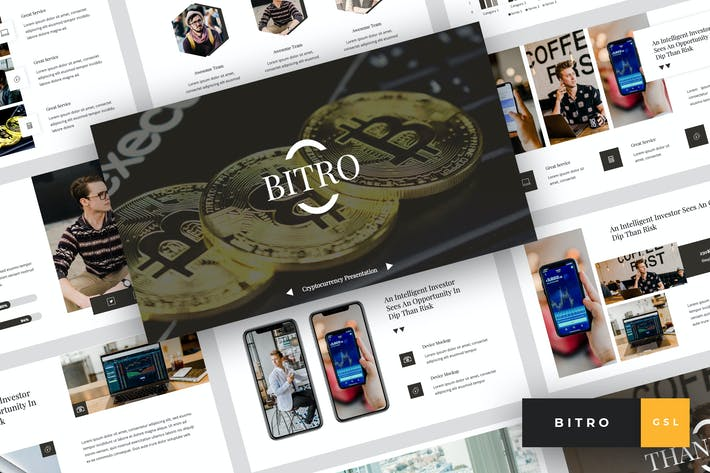 Cover Image For Bitro - Criptocurrency Google Slides Template