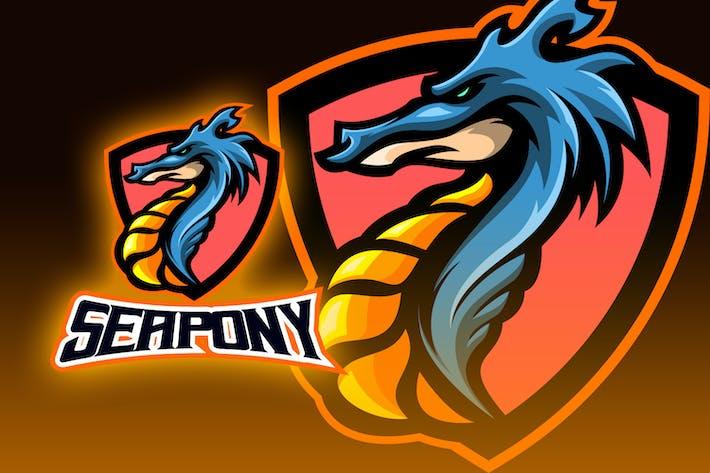 Monster Sea Horse Esport Logo