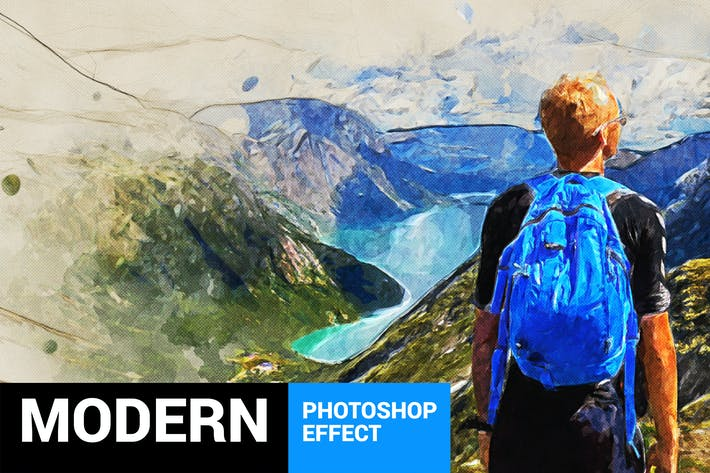 Thumbnail for Modernum - Watercolor Art Photoshop Action