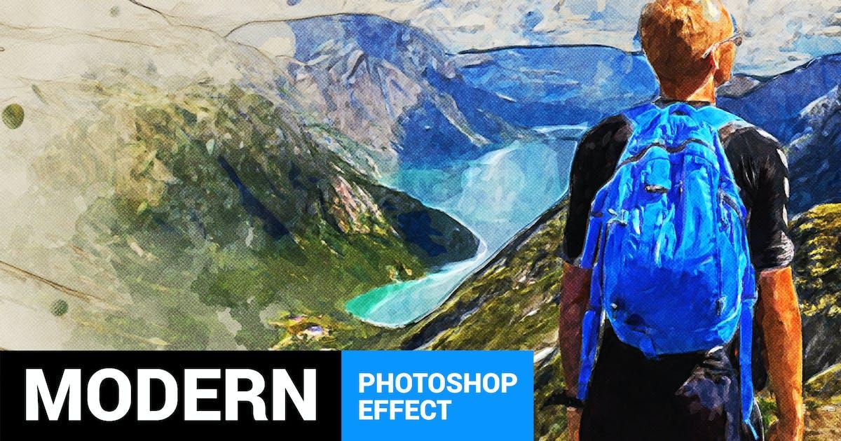 Modernum - Watercolor Art Photoshop Action by profactions