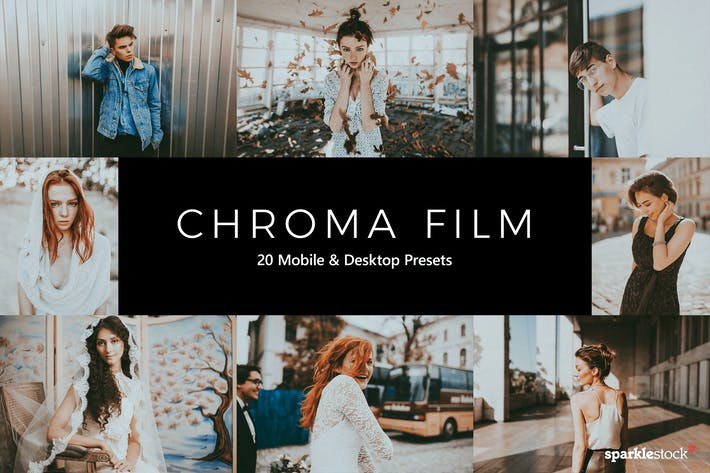 Thumbnail for 20 Chroma Film Lightroom Presets & LUTs