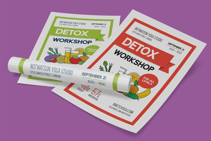 Thumbnail for Detox Workshop Poster Template