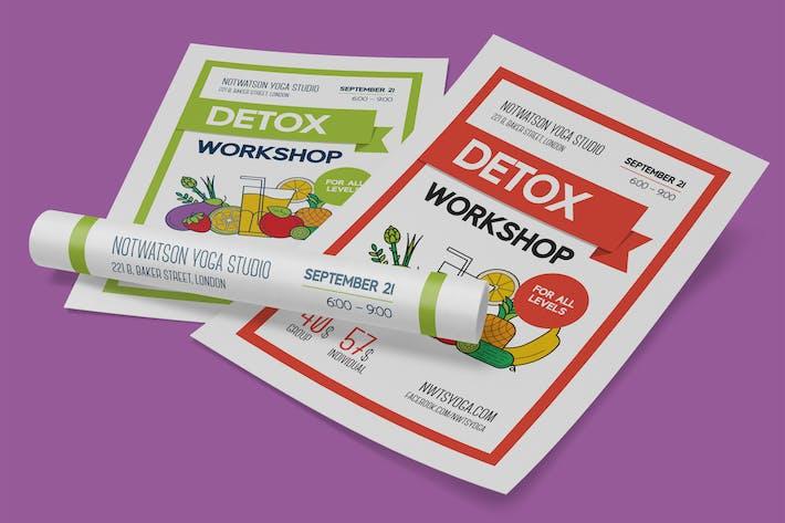Cover Image For Detox Workshop Poster Template