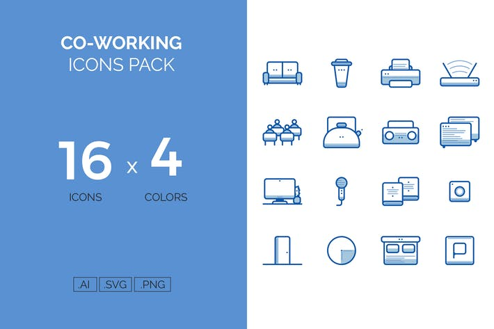 Cover Image For Coworking icons pack