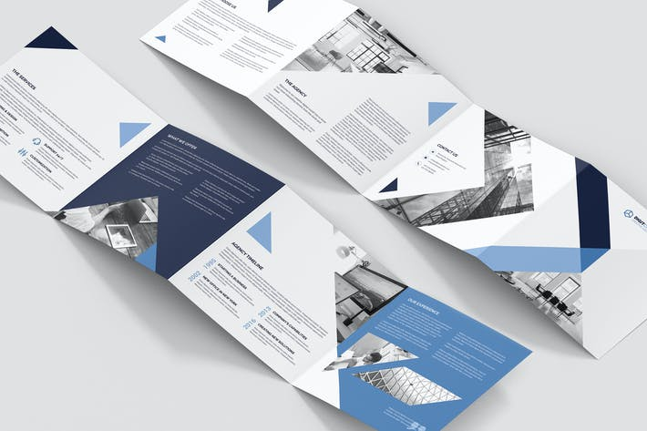 Thumbnail for Brochure – Digital Agency 4-Fold Square