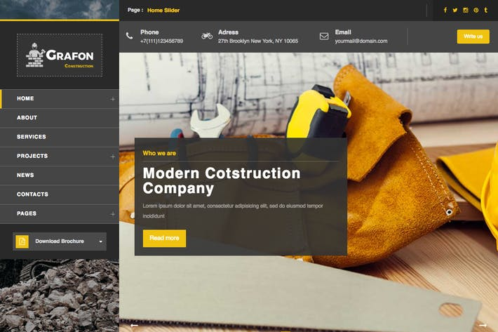 Thumbnail for Grafon - Construction / Renovate Wordpress Theme