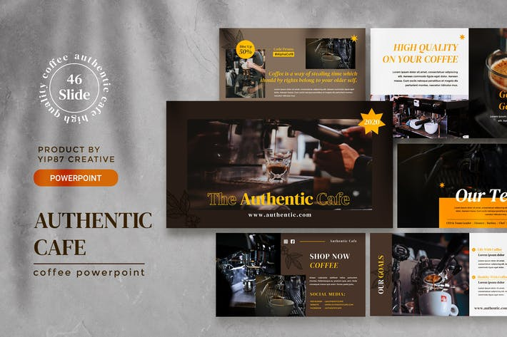 Thumbnail for Authentic Coffee Presentation Template