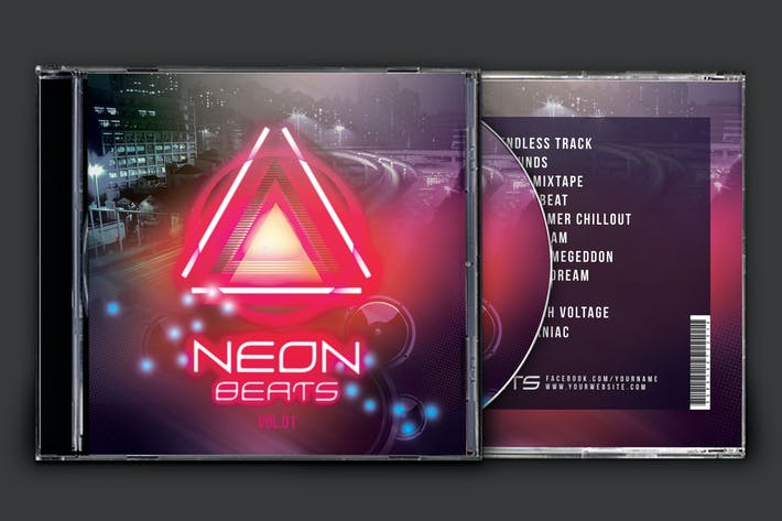 Cover Image For Neon Beats CD Cover Artwork