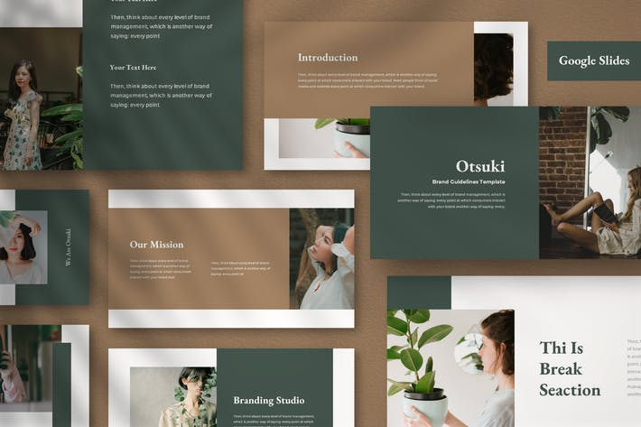 Thumbnail for Otsuki Presentation Template Google Slide