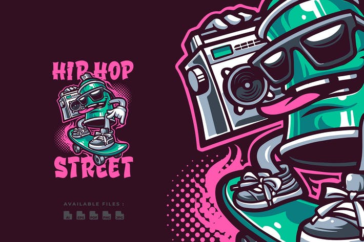 Thumbnail for Hip Hop Street Mascot Logo