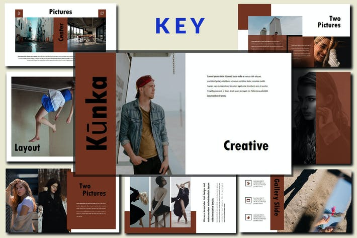 Thumbnail for Kunka - Innovative Keynote Template