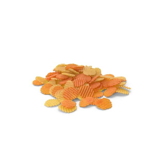 Thumbnail for Haufen gemischter Crinkle Cut gewellte Kartoffelchips