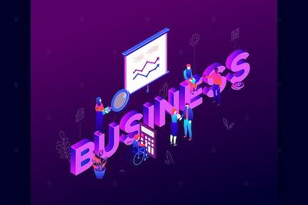 Business analytics - isometric illustration