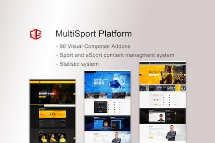MSP - MultiSport & eSport WordPress plugin