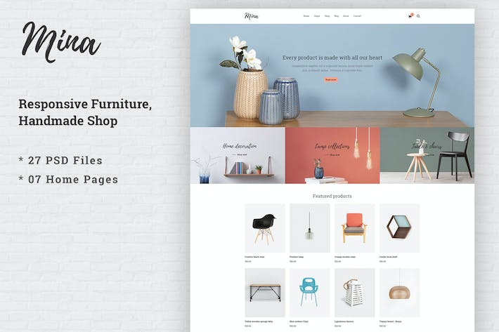 Thumbnail for Mina - Responsive Furniture Handmade Shop Template