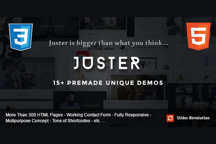 Thumbnail for Juster - Multi-Concept HTML Theme