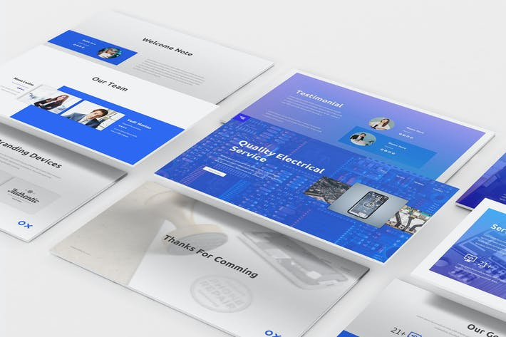 Thumbnail for Electronic Service Keynote Template