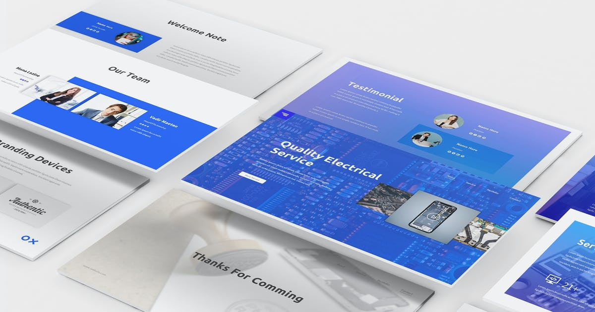 Download Electronic Service Keynote Template by Formatika