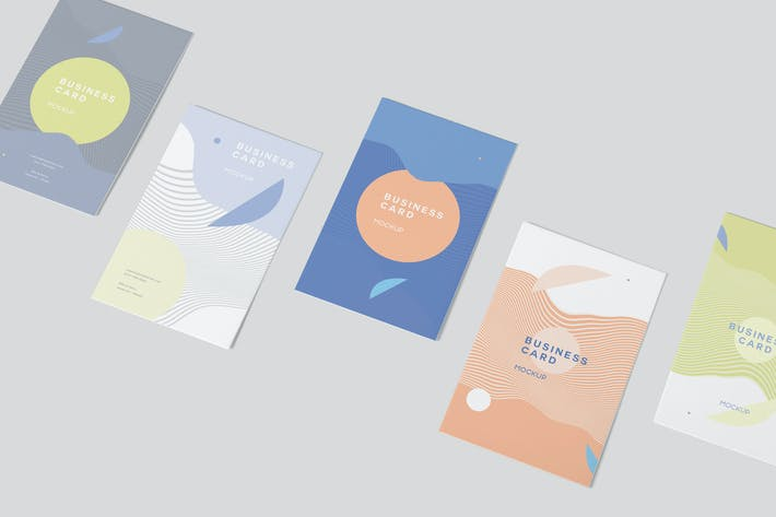 Thumbnail for Vertical Business Card Mock-ups