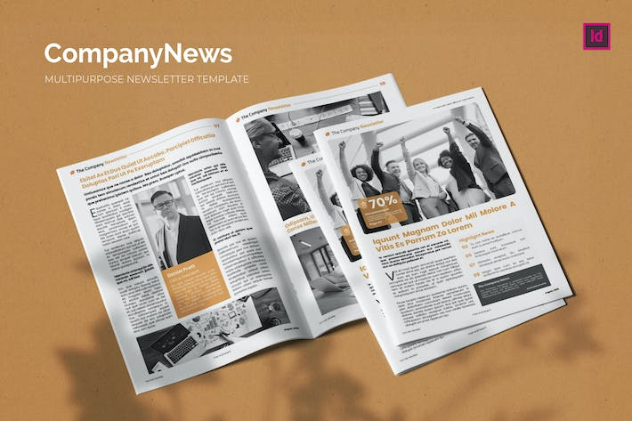 Thumbnail for CompanyNews - Newsletter Template