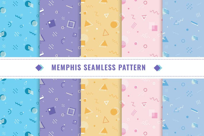 Thumbnail for Memphis Pattern Collection Design v3