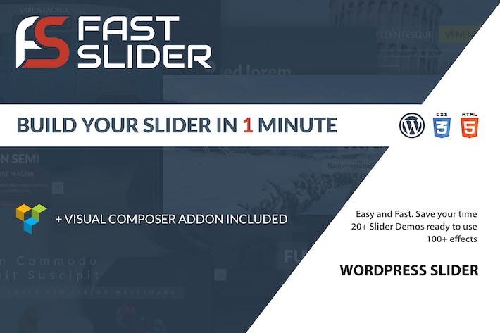 Cover Image For Fast Slider - Easy and Fast - Slider Plugin for WP