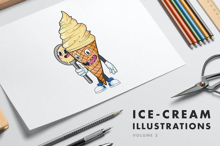 Ilustraciones de helados - Volumen 3