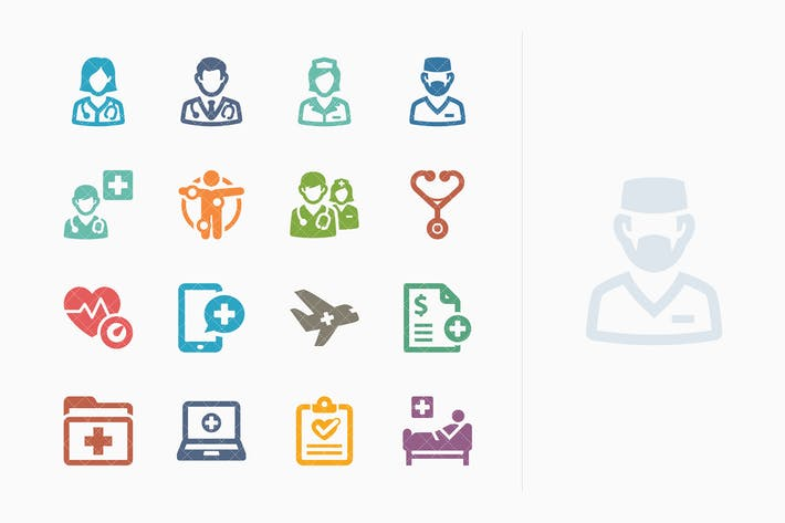 Colored Medical Services Icons Set 2 - Sympa Serie