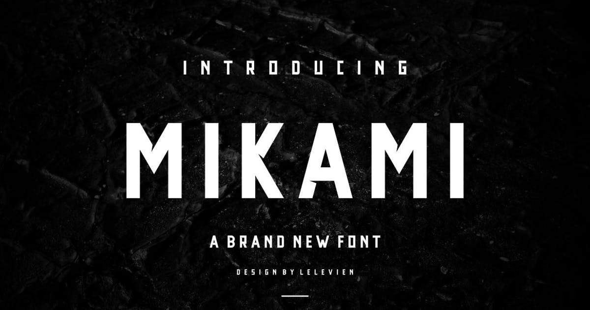 Download MIKAMI SERIF FONT by lelevien