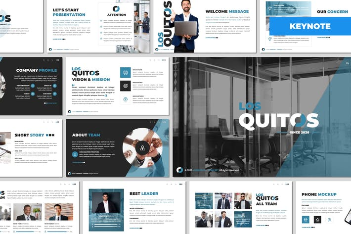 Thumbnail for Los Quitos - Business Keynote Template
