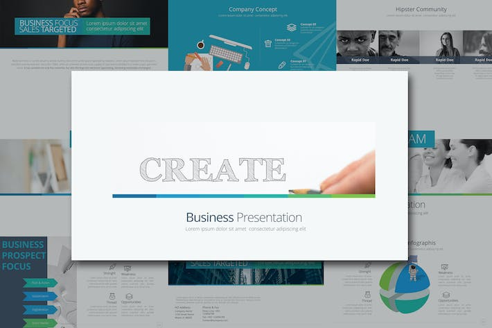 Thumbnail for СОЗДАНИЕ Business Powerpoint