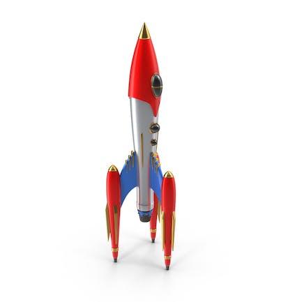 Retro Rakete Schiff