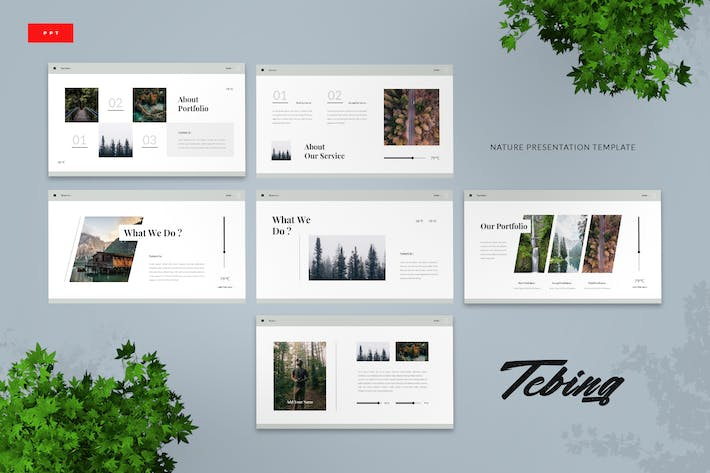 Thumbnail for Tebing - Nature Powerpoint Presentation Template