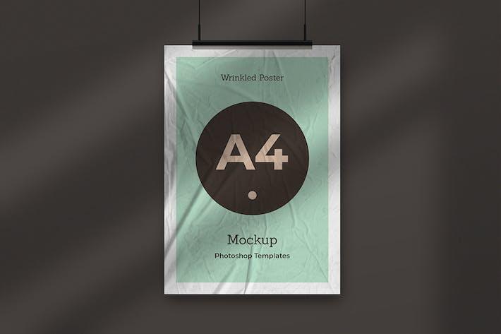 Wrinkled Poster Mockup Vol.3