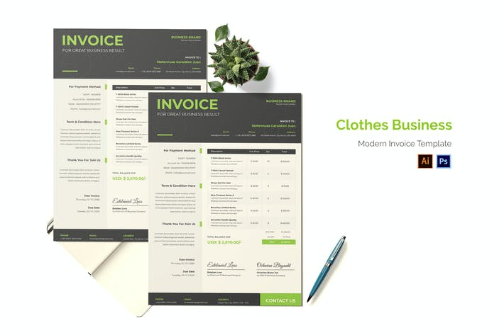 Thumbnail for Business-Rechnung für Kleidung