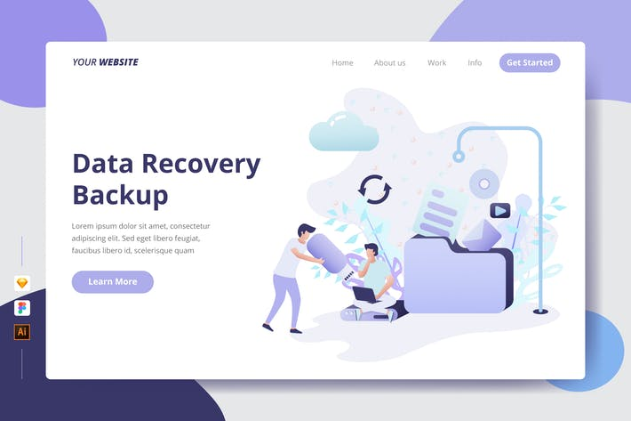 Cover Image For Data Recovery Backup - Landing Page