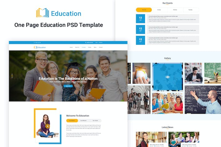 Thumbnail for Education- One page Education template
