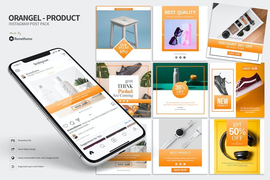 Orangel - Product Instagram Post Pack HR