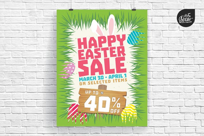 Thumbnail for Happy Easter Sale Poster And Flyer