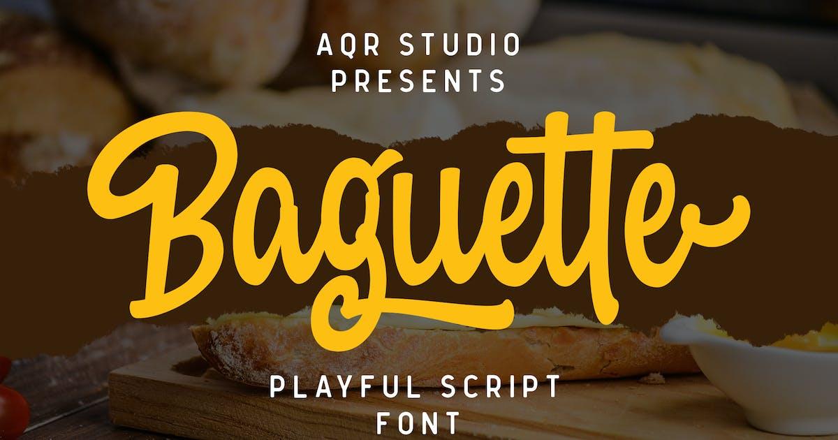Download Baguette Bold Fonts by aqrstudio