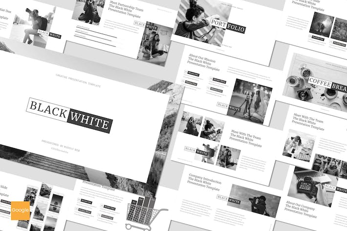 Thumbnail for Black and White - Google Slides Template