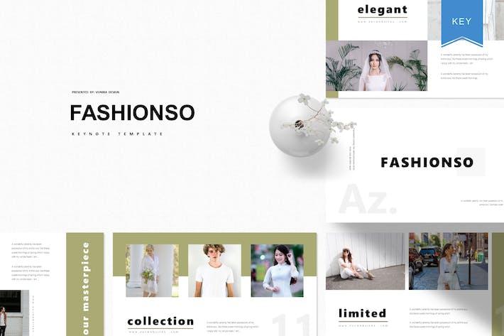 Thumbnail for Fashionso | Keynote Template