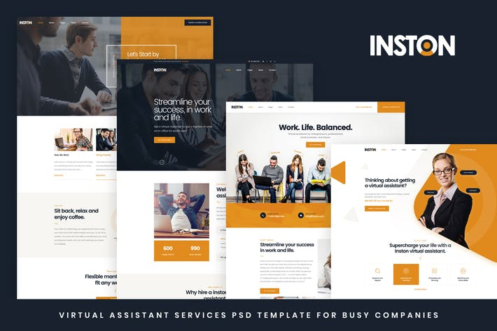 Thumbnail for Inston - Virtual Assistant Services HTML Template